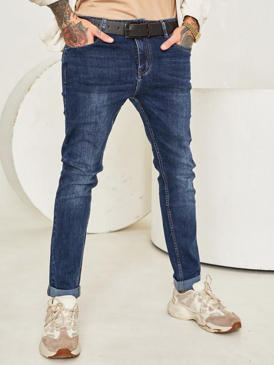 Чоловічі джинси сині 1201 фото