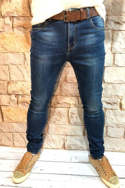 Мужские джинсы подуженные по ноге A00202 фото