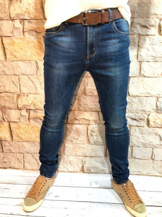 Чоловічі джинси подвужені по нозі A00202 фото