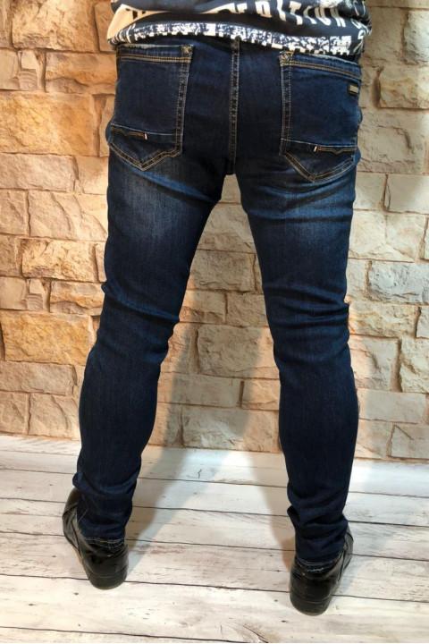 фото  1  Чоловічі джинси з легкими потертостями завужені A00206 - JEANS 24