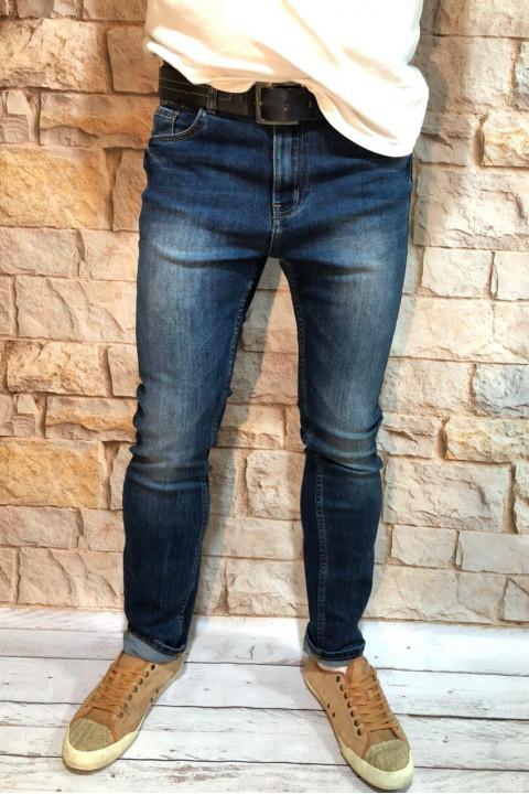 Чоловічі джинси завужені по нозі A00208 фото