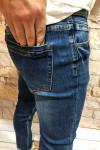 Чоловічі джинси темно-сині завужені A0214 фото | JEANS 24