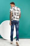 фото Чоловічі джинси сині з царапками B982-2 | JEANS24
