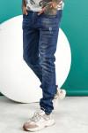 Чоловічі джинси сині з царапками B982-2 фото