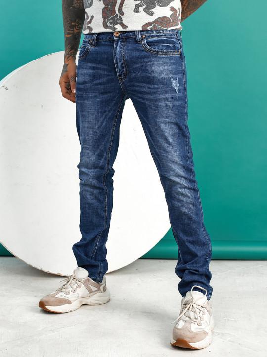 Чоловічі джинси сині з царапками B982-2 фото | JEANS24