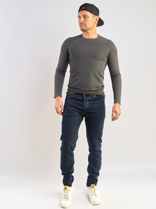 Чоловічі джинси темно-сині Slim fit 702 фото