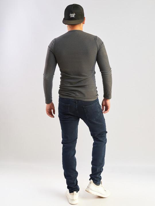 фото  2  Чоловічі джинси темно-сині Slim fit 702 - JEANS24