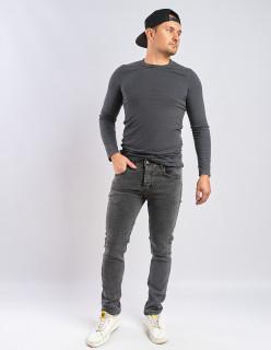 Чоловічі джинси сірі Slim fit 435