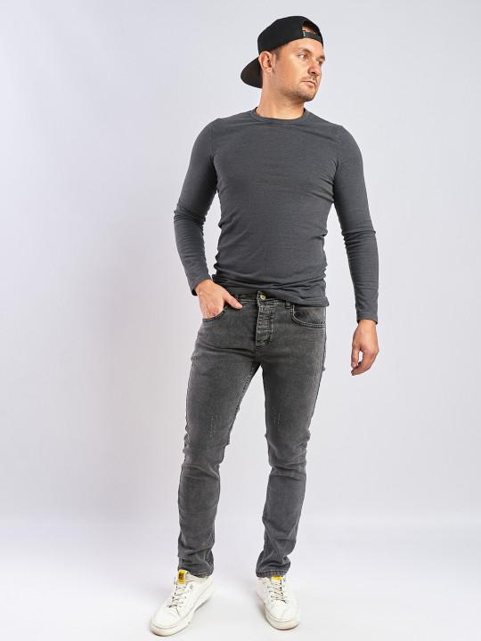 Мужские джинсы серые Slim fit 435 фото