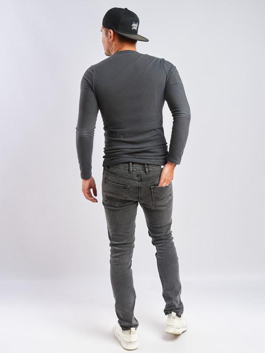 фото  3  Мужские джинсы серые Slim fit 435 - JEANS24   3