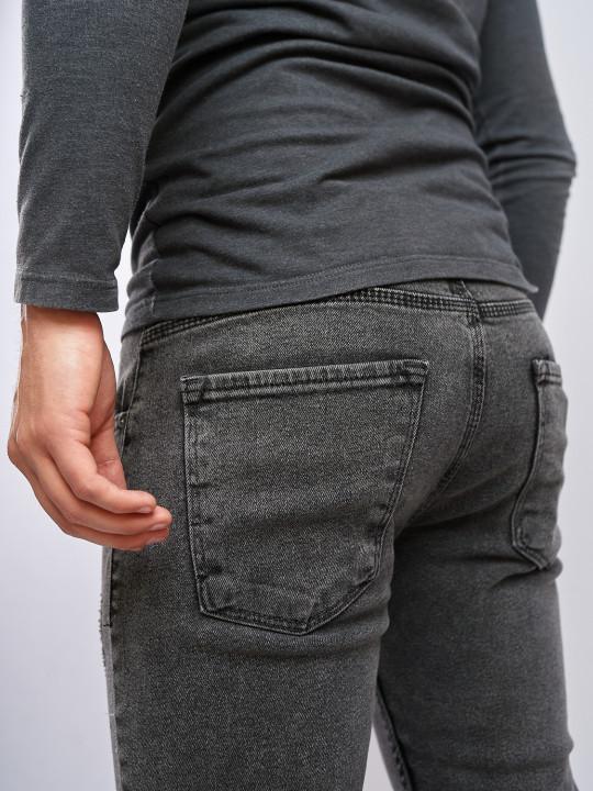 Мужские джинсы серые Slim fit 435 выбрать