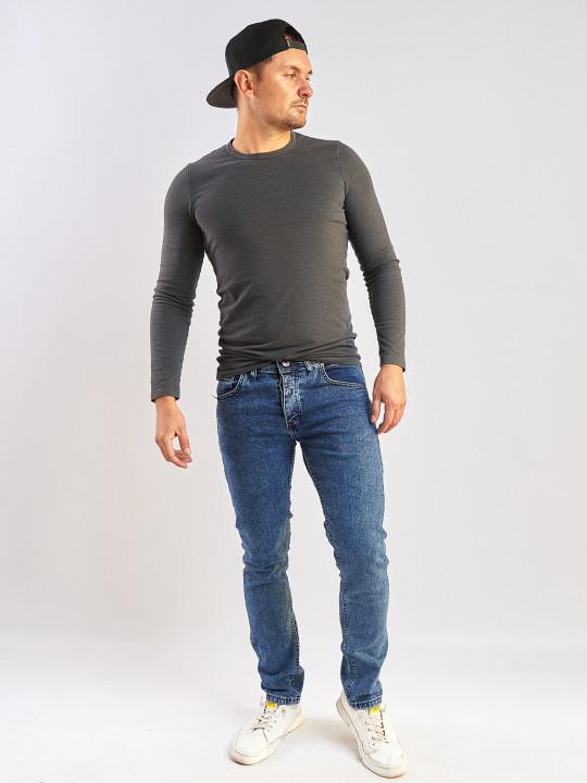 Мужские джинсы синие слим фит 350 фото