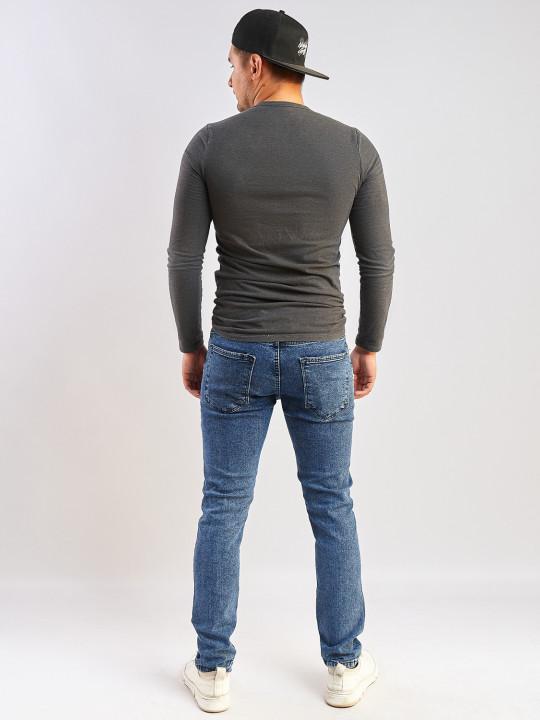 фото  2  Мужские джинсы синие слим фит 350 - JEANS24   2
