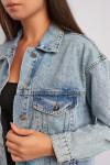фото  2  Джинсовая куртка ОВЕРСАЙЗ 2027 - JEANS24   2