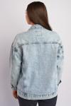 фото  1  Джинсовая куртка ОВЕРСАЙЗ 2027 - JEANS24   1
