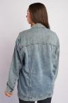 фото  2  Джинсова куртка ОВЕРСАЙЗ 2024 - JEANS24