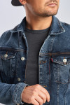 Джинсовая куртка винтажная с добавлением стрейча фото
