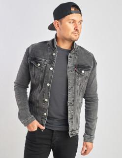 Джинсова куртка вінтажна сірого кольору