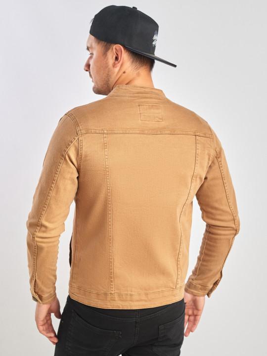 фото  2  Джинсова куртка коричнева - JEANS24