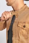 фото  1  Джинсова куртка коричнева - JEANS24