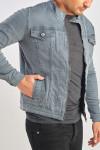 фото  2  Джинсова куртка колір графіт сірий - JEANS24