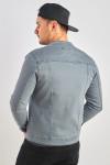 фото  1  Джинсова куртка колір графіт сірий - JEANS24