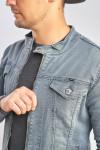 фото  3  Джинсова куртка колір графіт сірий - JEANS24