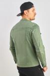 фото  1  Джинсова куртка приталена колір хакі - JEANS24