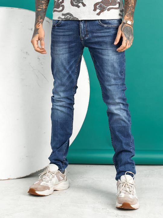 Мужские джинсы молодежные синие 1022 фото
