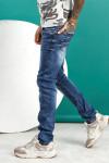 Мужские джинсы молодежные синие 1022 заказать по фото
