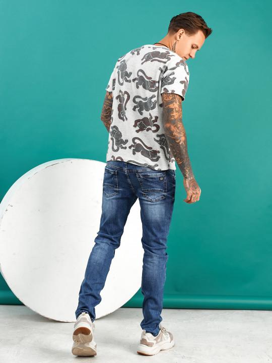 Мужские джинсы молодежные синие 1022 - JEANS 24 купить
