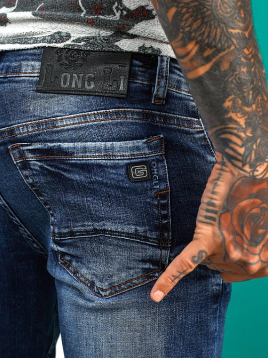 Мужские джинсы молодежные синие 1022 обзор