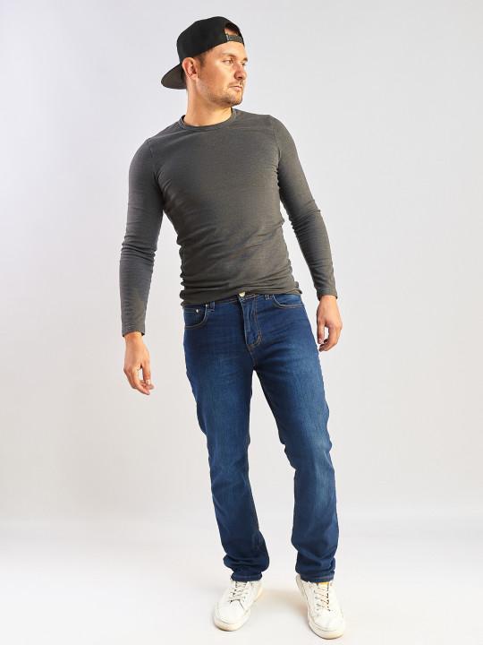 Мужские джинсы синие Regular 045 фото