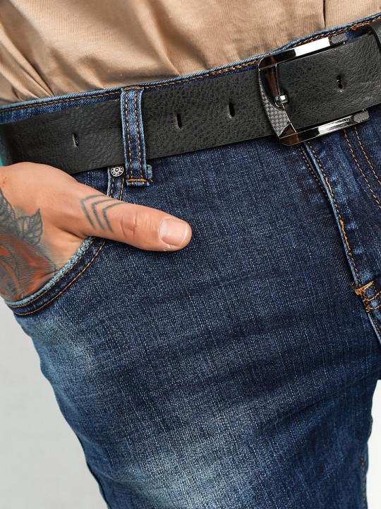 Мужские джинсы синие Regular fit 12001 заказать по фото