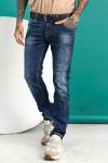 Мужские джинсы синие Regular fit 12001 фото