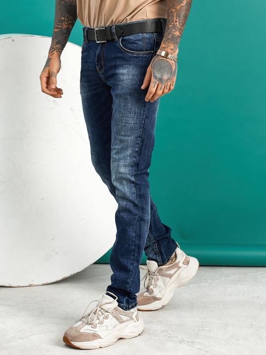 Мужские джинсы синие Regular fit 12001 заказать