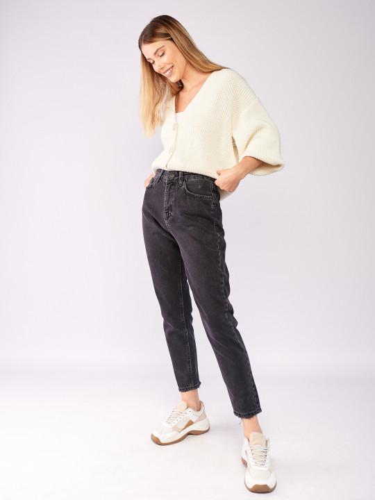 фото  6  Сірі джинси вінтаж мом 7028 - JEANS24
