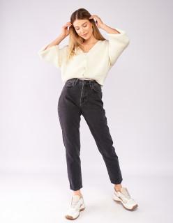 Сірі джинси вінтаж мом 7028
