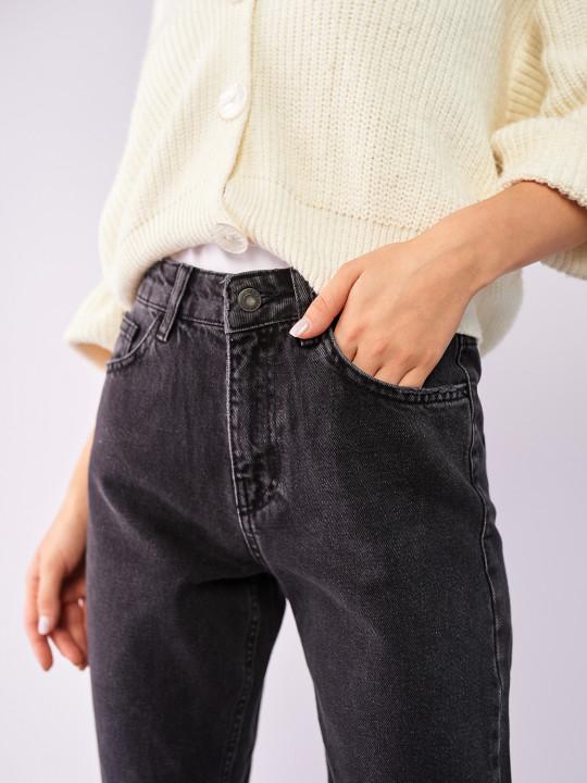 фото  5  Сірі джинси вінтаж мом 7028 - JEANS24