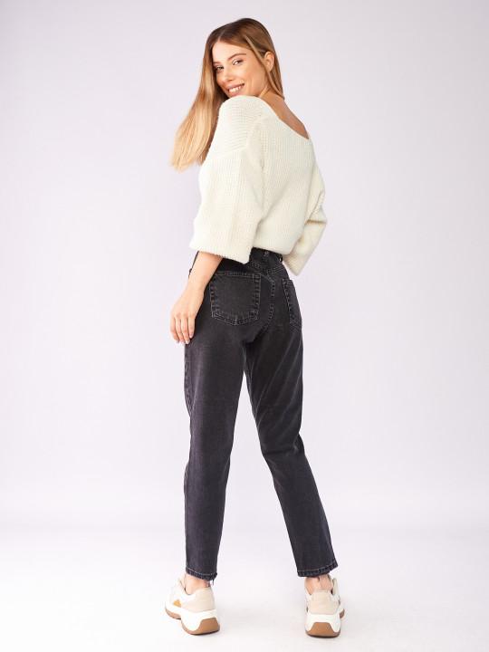 фото  4  Сірі джинси вінтаж мом 7028 - JEANS24