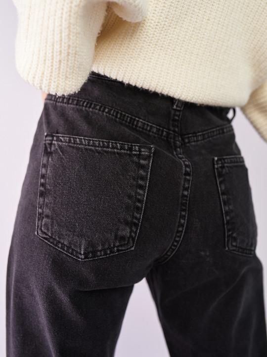 фото  2  Сірі джинси вінтаж мом 7028 - JEANS24