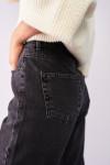 фото  3  Сірі джинси вінтаж мом 7028 - JEANS24
