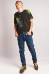фото Джинсы темно-синие винтаж царапки 3320 в JEANS24