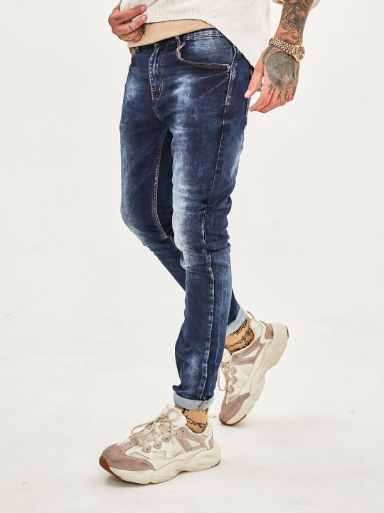 Чоловічі джинси потерті 1047 фото