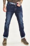 Мужские джинсы темно-синие 1048 фото