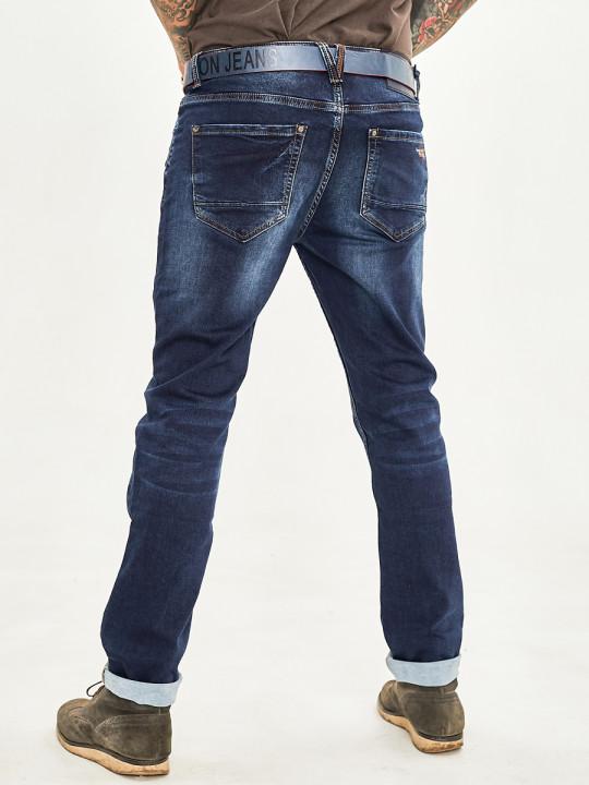 Мужские джинсы темно-синие 1048 заказать по фото