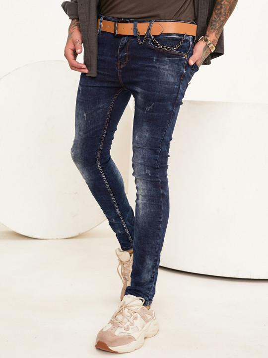 Чоловічі джинси потерті Skinny Fit 1009 фото