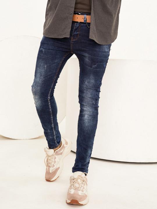 фото  7  Чоловічі джинси потерті Skinny Fit 1009 - JEANS24