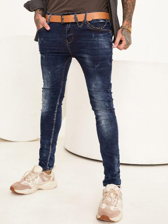 Чоловічі джинси потерті Skinny Fit 1009 выбрати