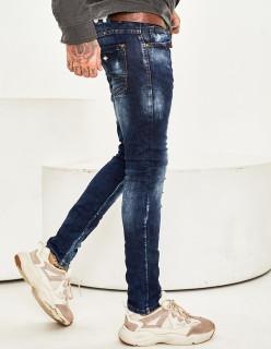 Мужские джинсы потертые Slim Fit 1010